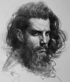 Great coal portraits by Oliver Sin - Kohle und Bleistift - L'art Du Portrait, Portrait Sketches, Pencil Portrait, Drawing Portraits, Male Portraits, Portrait Paintings, Life Drawing, Figure Drawing, Painting & Drawing