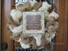 ideas for weddings with burlap wreaths | Burlap Wreaths :)