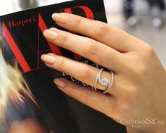 Check out our gorgeous Nova Ring in the #March Issue of @harpersbazaarus  #gabrielny #harpersbazaar #magazine #fashion #engagementring #love #jewelry #designer Style #: ER12416 by gabrielandco