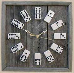 Domino Uhr. Super easy zum selber machen.