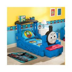 Extremely Cute Little Tikes Thomas & Friends Train Bed, but too much train for my taste..