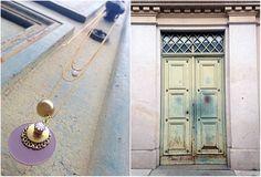 Natanè Planet necklace on an old door. #necklace #collane #colors #ametista #amethist #woman #fashion #style #outfit #swarovski #jewel #bijoux #door #porta #gate #girl #natanè
