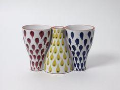 Original Ceramic Vasa Candlestick Stig Lindberg Gustavsberg Snurran Series | eBay