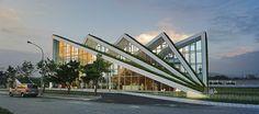 32 ideas for exterior facade architecture projects Futuristic Architecture, Facade Architecture, Contemporary Architecture, Amazing Architecture, Architecture Definition, Organic Architecture, Facade Design, Exterior Design, Modern Buildings