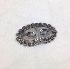 Drama Mask Necklace Pendant Silver Finish Pewter Metal Miniature Flair Art Charm | eBay