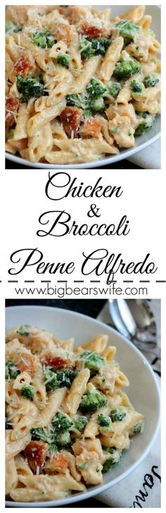 Chicken and Broccoli Penne Alfredo