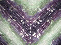 The Butterfly pattern works with a wide variety of yarns. Hook size selection will vary accordingly.