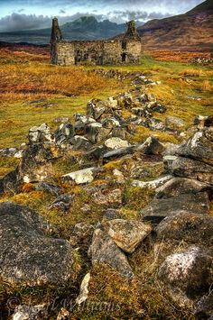 Ruined building at Cill Chriosd, Isle of Skye.