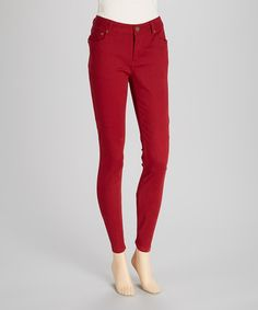 Take a look at this Red Jeggings by BACCINI on #zulily today!