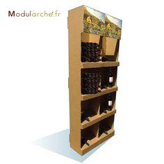 pr sentoir pour vin modularche pr sentoirs bouteilles pinterest presentoir vin et carton. Black Bedroom Furniture Sets. Home Design Ideas