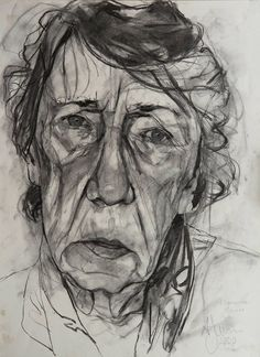 Andrew James 'Florence'  2000  Charcoal on Paper  18 x 14 / 46 x 36