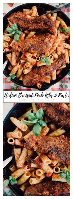 Italian Braised Pork Ribs and Pasta - Living The Gourmet