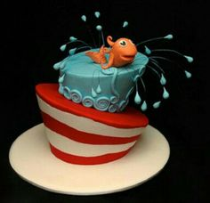 The Cat In The Hat Birthday Cake