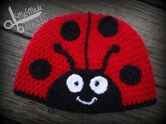 crochet ladybug hat | Ladybug Crochet Hat ToddlerChild Made to Order by MaMadeCreations, $20 ...