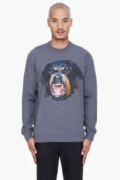 Givenchy Gret Rottweiler Print mens sweater.