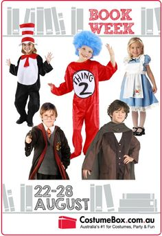 Brace yourselves people - Book Week is coming up (August22- August 28), and with a bit of planning now will see your child stepping out in an awesome outfit