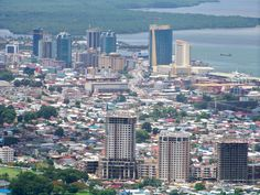 Cityscape of Port of Spain, Trinidad.