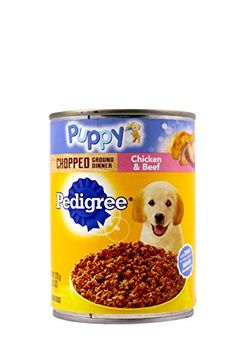 Pedigree Traditional Ground Dinner Chicken and Beef Canned Puppy Food * Amazon most trusted e-retailer #PedigreePet