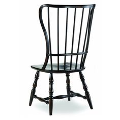 Who knew a windsor chair could be so unique and modern? Hooker Furniture Sanctuary Spindle Side Chair