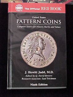 U s Pattern Coins Official Red Book New 9th Edition Whitman J Hewitt Judd M D   eBay