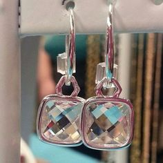 New Origami Owl Spring 2014 Collection. Cushion cut Earrings. These are so beautiful in person.
