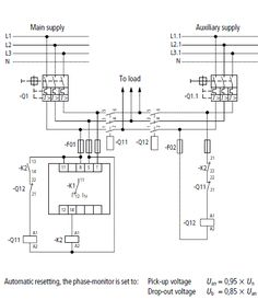 automatic transferred switch ats circuit diagram electrical rh pinterest com wiring diagram for matsushita 39100-s84-a300 wiring diagram for atwood water heater