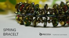 Spring Bracelet with Ripple Beads.  Free PDF  #Seed #Bead #Tutorials
