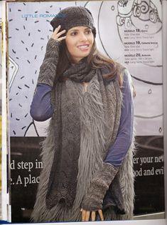 Laura Nº15 (Moda de Punto) Fur Coat, Crochet Hats, Beautiful, Fashion, Knit Fashion, Knitting Charts, Urban, Dots, Tejidos