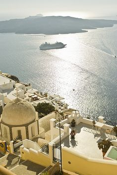 a great cruise    ysvoice: Santorini, Greece by ucmediaproducties via allthingseurope