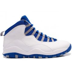 Air Jordan 10 (X) Retro ( White / Old Royal Blue / Stealth )