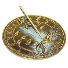 Rome 2316 Cherub Sundial, Solid Brass With Verdigris Highlights, 10-Inch Diameter, 2015 Amazon Top Rated Sundials #Lawn&Patio