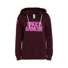 Under Armour V-neck mega logo sweatshirt ($41) ❤ liked on Polyvore featuring under armour