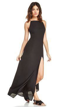 June & Hudson 90's Basic Maxi Dress in Black XS - L | DAILYLOOK