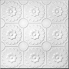 R36-White 20 x 20 Tin Looking Ceiling Tile
