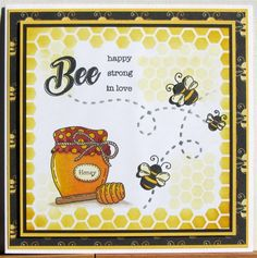 Bee Happy stamps - Hunkydory for the love of stamps.