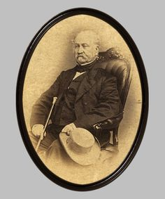 Capt. John A. Sutter.  Sutter owned the property on which gold was first discovered in California, leading to the California gold rush.
