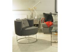 Michael Weiss Roxie Swivel Chair - Toms-Price Home Furnishings. Egg Chair, Swivel Chair, Upholstered Accent Chairs, Living Room Sets, Cocktail Tables, Floor Chair, Home Furnishings, Modern Design, Sofa