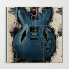 Dave Grohl's electric guitar Wood Wall Art by popcultposters Dave Grohl, Wood Wall Art, Electric, Guitar, Wooden Wall Art, Guitars