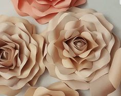Paper Flower Template Small Rose PDF file #34 with video tutorial...