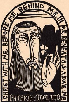 This is original art (linocut) from the book Light from Darkness: Portraits and Prayers. The size is 6x4 (printed on stonehenge fawn paper) in a: