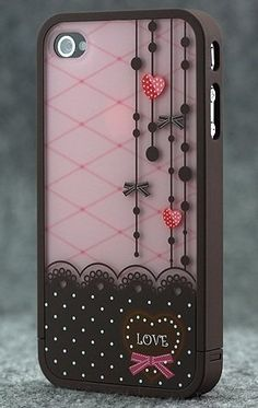 $4.00 Brown and Pink Polka Dot Pattern Hard Case with Red Heart Love Design For Apple iPhone 4S / 4 (AT, Verizon, Sprint) by iCustomized, http://www.amazon.com/dp/B006UT0R0I/ref=cm_sw_r_pi_dp_104Jpb0HDFCRC