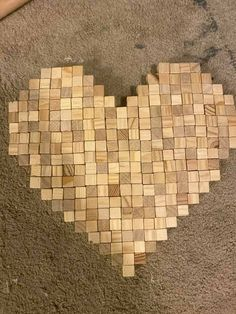 Cute Crafts, Fall Crafts, Wood Crafts, Crafts For Kids, Craft Day, Craft Gifts, Scrabble Crafts, Jenga Blocks, Block Craft