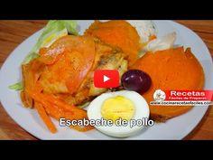 Receta de escabeche de pollo (Vídeo) - Recetas fáciles