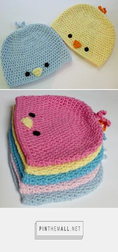 Crochet Beanie Ideas Free Crochet Patterns: Free Crochet Pattern - Baby Chick or Baby Bird Hat . Spring ahead with this adorable crochet hat Crochet Baby Beanie, Knit Or Crochet, Crochet For Kids, Crochet Crafts, Baby Knitting, Crochet Projects, Free Crochet, Crocheted Hats, Crochet Baby Stuff