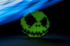 Glow-in-the-dark Simbrix for all at http://kck.st/1LNWyRS and just one week left to get your hands on some! #jackskellington  #nightmarebeforechristmas #perlerbeads #hamabeads #crafts #toy #playing #indiegames #Kickstarter