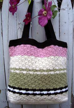 Sweet Pea Tote Bag Pattern - CAP's Crochet & Crafts
