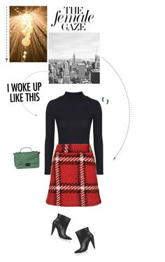 """""""Black, Red & Green Outfit."""" by xabbielou ❤ liked on Polyvore featuring Topshop"""