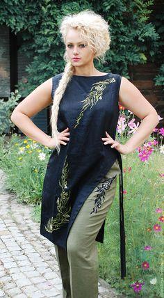 c98b4a7b918 Купить Вышитй льняной костюм