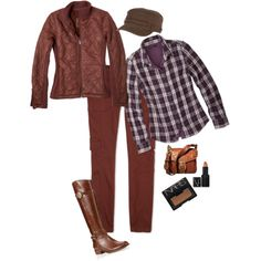 "#Fall #outfit from Prana"" by jenjennyo on Polyvore #plaid #boots"