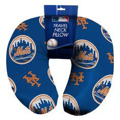 New York Mets MLB Beadded Spandex Neck Pillow (12in x 13in x 5in)